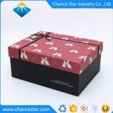 Boîte en carton de papier cadeau personnalisé avec ruban Bow