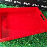 Sostenedor de acrílico modificado para requisitos particulares del buñuelo de la bandeja de la porción del color con la maneta