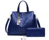 2PCS raccoglitore di cuoio dell'unità di elaborazione della signora stabilita Work Handbags Causal Women (WDL0874)