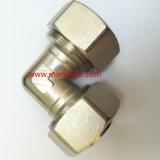 Qualidade superior de latão niquelado Material cobre conexão de compressão
