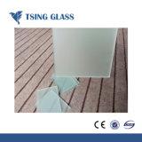 Tamanhos de corte Design Personalizado de vidro fosco/ácido vidro gravado para a prateleira de vidro da Fresta, balaustradas, Corrimãos