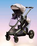 Anti-Deformação forte da câmara de ar de alumínio do Carro-Carro do bebê dos gêmeos com frame e assento regular