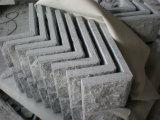 Granito Natural G682 oxidada de setas de granito amarillo mosaico de la pared de piedra