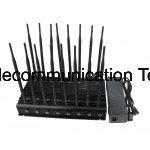 16 de Stoorzender van Cellphone van banden, Ied Stoorzender, GPS, GSM Stoorzender, Stoorzender van de Aktentas van 16 GPS L1 L2 L5 Lojack WiFi van Banden GSM CDMA de UHFVHF Afstandsbedieningen tot 50m