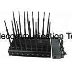 16 Band-Mobiltelefon-Hemmer, Ied Hemmer, GPS, G-/Mhemmer, 16 UHFvhf-Fernbedienung-Aktenkoffer-Hemmer Bänder GPS-L1 L2 L5 Lojack WiFi G/M CDMA bis zu 50m
