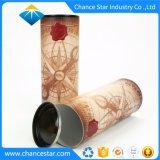 Пользовательский жесткий картон круглые трубы вино Подарочная упаковка