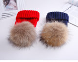 Le Raton laveur accessoire de la fourrure/raton laveur de fourrure en cuir à bille Hat/Fourrure de raton laveur