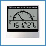 LCD表示の温度および湿気の温度計