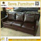 Tejido de ocio moderno sofá 3 plazas con sofá cama