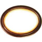 Fait main ovale en bois Picture Frame M-102(W/G)