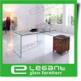 Tabella di vetro semplice con vetro di piegamento caldo grigio