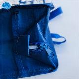 ジッパーのジッパーが付いているマットのショッピング荷物のパッキングハンドバッグのギフトによって薄板にされるPPによって編まれる袋