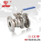 Valvola a sfera della flangia dell'acciaio inossidabile 2PC di alta qualità