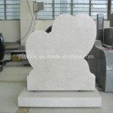 真珠の白い花こう岩の石の倍の中心の墓碑