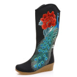 Mesdames Embroide Bottes chaussures style Embroides tradition chinoise