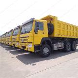 Sinotruk 상표 6X4 구동 장치형 팁 주는 사람 쓰레기꾼 트럭 371HP
