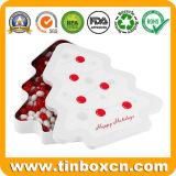 ギフトの食品等級が付いている包装の金属のクリスマスキャンデーの錫ボックス