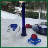 17 pulgadas estilo Illadelph azul 60x5mm tubo recto Tubo de agua de cristal con Downstel y cuencos