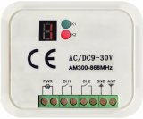 Receptor de RF Multi Frequency DC/AC 9~30V.