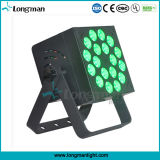 18 uds. de 10W RGBW 4en1 IP20 plana LED PAR Luz Can