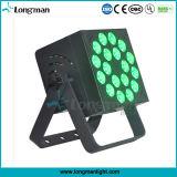 18PCS 10W RGBW 4in1 IP20 LEDの平らな同価はつくことができる