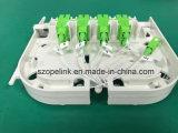 Caixa de Terminais da Fibra Óptica 8 Caixa de Distribuição de fibras patch panel com divisor Óptico 1x8