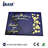 Prix usine carte de voeux visuelle d'affichage à cristaux liquides d'écran de 6 pouces pour l'invitation de mariage