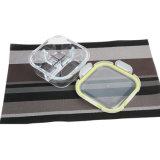 3 Teiler-Fach-Glasmahlzeit-Vorbereitungs-Behälter mit wasserdichter Kappe