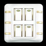 Tipo popular interruptores y socketes de la pared para Medio Oriente y el mercado africano
