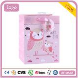 Мешок розового подарка искусствоа магазина игрушки детей сыча Coated бумажный