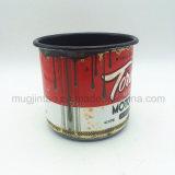Tasse de café faite sur commande complètement estampée d'émail d'OEM de Drinkware Tyep, tasse campante d'émail