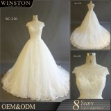 Heiße Verkaufs-Fabrik-kundenspezifische Schutzkappe Sleeves reales Hochzeits-Kleid