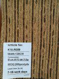 Karbonisierung-Naturkork-Gewebe-Leder für Schuh-Beutel-Dekoration (K18-06)