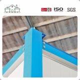 Casa modular del Portable del envase del emparedado prefabricado azul de la estructura de acero del bajo costo
