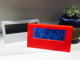 Reloj electrónico del calendario de la pared o del vector de Digitaces con la visualización del LCD