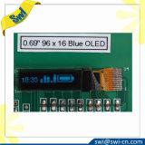 0.69 Tela de indicador do diodo emissor de luz do LCD OLED com pinos