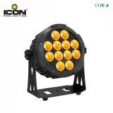 Nuevo 6en1 RGBWA+UV a la par de LED para Iluminación de jardín