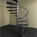 Escalera espiral al aire libre del metal al por mayor contemporáneo