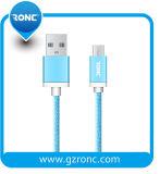 Cavo micro 1m Braided di nylon del USB degli accessori del telefono mobile