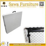 백색 플라스틱 직사각형 옥외 접의자