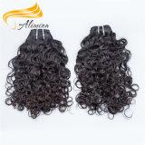 El pelo rizado camboyano más grueso suave y liso teje