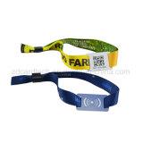 Seule bracelet d'événement de tissu tissé du code NFC de Qr par IDENTIFICATION RF
