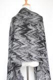 Кашемир женщин как связанный шарф шали печатание волны зимы тяжелый (SP301)