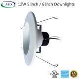 12Вт Светодиодные лампы модифицированной вниз с 5 лет гарантии
