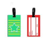 PVC en caoutchouc personnalisé promotionnel luggage tag tag tag de sac de voyage