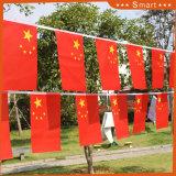 Promotion écologique imprimé PE/papier/Non-Woven/tissu fanion de feutre String Drapeaux personnalisés