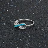 Кольцо 925 серебряный AAA CZ профессионального сбывания OEM изготовления горячего опаловое фасонирует ювелирные изделия (559023867837)