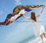 100%Polyester de Digitale Afgedrukte Sjaal van de stof voor Vrouw