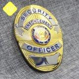 Venda por grosso de liga de zinco fundido emblema distintivo da Polícia Militar de PIN