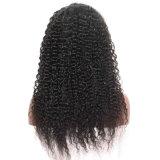 Парик волос курчавых волос Dlme мягко естественный черный синтетический